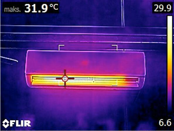 jak działa klimatyzacja - widok z kamery termowizyjnej